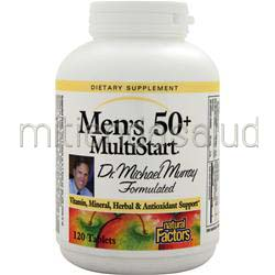 Men's 50con MultiStart 120 tabs NATURAL FACTORS