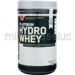 Platinum HydroWhey Supercharged Strawberry 1 75 lbs OPTIMUM NUTRITION