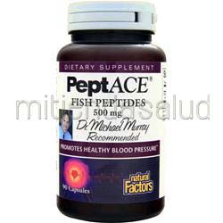 PeptACE Fish Peptides 500mg 90 caps NATURAL FACTORS