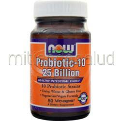 Probiotic-10 25 Billion 50 caps NOW