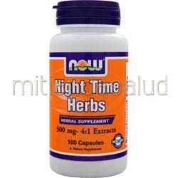 Now Nighttime Herbs 500mg 100 caps NOW