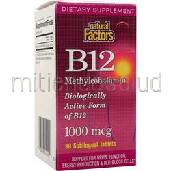 B12 Methylcobalamin 1000mcg 90 tabs NATURAL FACTORS