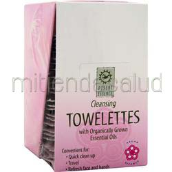 Cleansing Towelettes with Organically Grown Essential Oils 24 unit DESERT ESSENCE