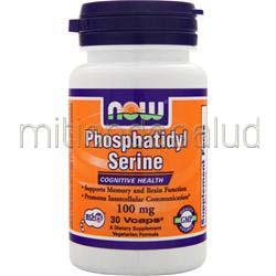 Phosphatidyl Serine 100mg w/ Choline & Inositol 30 caps NOW