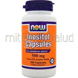 Inositol Capsules 500mg 100 caps NOW