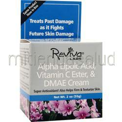 Alpha Lipoic Acid, Vitamin C Ester and DMAE Cream 2 oz REVIVA LABS