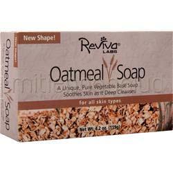 All Natural Soap Oatmeal 4 2 oz REVIVA LABS