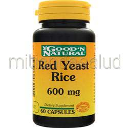 Red Yeast Rice 600mg 60 caps GOOD 'N NATURAL