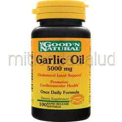 Garlic Oil 5000mg 100 sgels GOOD 'N NATURAL