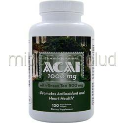 Acai 1000mg with Green Tea 120 sgels GOOD 'N NATURAL
