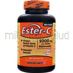 Ester-C with Citrus Bioflavonoids 1000mg 90 caps AMERICAN HEALTH