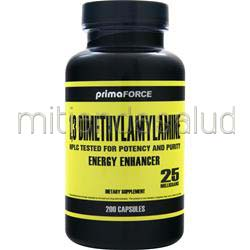 1,3 Dimethylamylamine 20mg 200 caps PRIMAFORCE