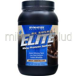 Elite Whey Protein Isolate - All Natural Rich Chocolate 2 06 lbs DYMATIZE NUTRITION