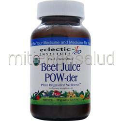 Fresh Freeze-Dried Beet Juice Powder 90 gr ECLECTIC INSTITUTE