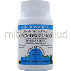 Fresh Freeze-Dried Goldenseal Root 100 caps ECLECTIC INSTITUTE