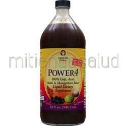 Power 4 100% Goji, Acai, Noni & Mangosteen Juice 32 fl oz GENESIS TODAY