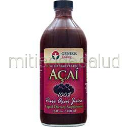 100% Wild Harvested Acai Juice 16 fl oz GENESIS TODAY