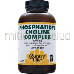 Phosphatidyl Choline Complex 1200mg 200 sgels COUNTRY LIFE