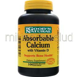 Absorbable Calcium with Vitamin D 100 sgels GOOD 'N NATURAL