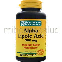 Alpha Lipoic Acid 300mg 120 sgels GOOD 'N NATURAL