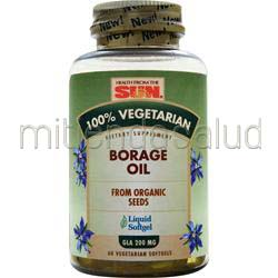 100% Vegetarian Borage Oil 60 sgels HEALTH FROM THE SUN