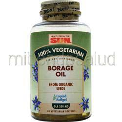 100% Vegetarian Borage Oil 60 sgels HEALTH FROM THE SUN