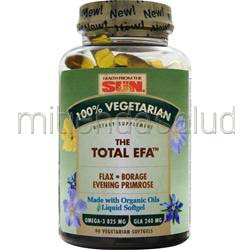 100% Vegetarian The Total EFA 90 sgels HEALTH FROM THE SUN