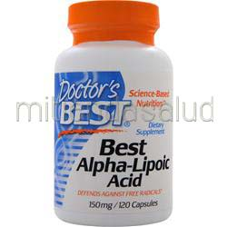 Best Alpha-Lipoic Acid 150mg 120 caps DOCTOR'S BEST