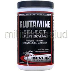 Glutamine Select Black Cherry 552 gr BEVERLY INTERNATIONAL