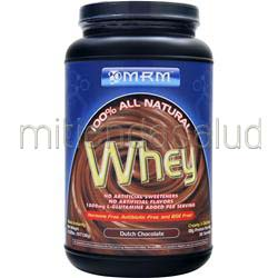 100% All Natural Whey Dutch Chocolate 2 02 lbs MRM