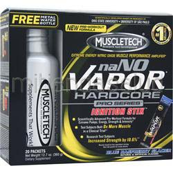 naNO Vapor Hardcore Pro Series Ignition Stix Blue Raspberry Glacier 20 pckts MUSCLETECH