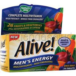 Alive Men's Energy Multivitamin - Multimineral Caffeine-Free 50 tabs NATURE'S WAY