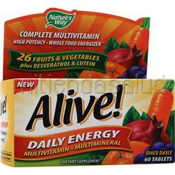 Alive Daily Energy Multivitamin - Multimineral Caffeine-Free 60 tabs NATURE'S WAY