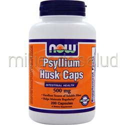 Psyllium Husk Caps 500mg 200 caps NOW