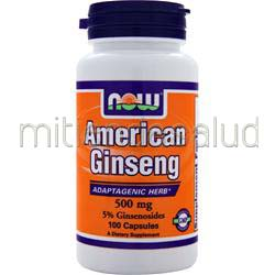 American Ginseng 500mg 100 caps NOW