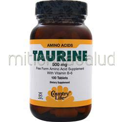 Taurine 500mg 100 tabs COUNTRY LIFE
