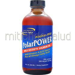 PolarPower Liquid - Wild Sockeye Salmon Oil 8 fl oz NORTH AMERICAN HERB & SPICE