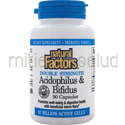 Acidophilus & Bifidus 90 caps NATURAL FACTORS