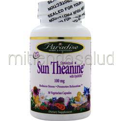 Sun Theanine with OptiMSM 100mg 30 caps PARADISE HERBS
