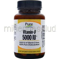 Vitamin-D 5000IU 30 caps PURE ESSENCE LABS