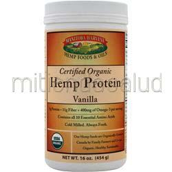 Certified Organic Hemp Protein Vanilla 16 oz MANITOBA HARVEST