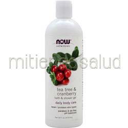 Natural Shower and Bath Gel Tea Tree & Cranberry 16 fl oz NOW