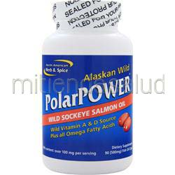 PolarPower - Wild Sockeye Salmon 90 caps NORTH AMERICAN HERB & SPICE