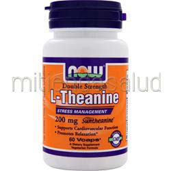 L-Theanine - Double Strength 200mg 60 caps NOW