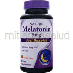 Melatonin Fast Dissolve 5mg Strawberry 90 tabs NATROL