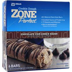 Cookie Dough Nutrition Bar Chocolate Chip 6 bars ZONE PERFECT