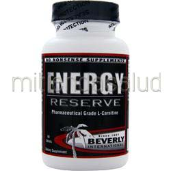 Energy Reserve - Pharmaceutical Grade L-Carnitine 60 tabs BEVERLY INTERNATIONAL