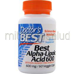 Best Alpha-Lipoic Acid 600mg 60 caps DOCTOR'S BEST