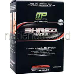 Shred Matrix 120 caps MUSCLE PHARM