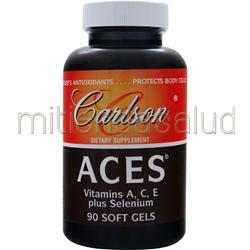 ACES - Vitamins A, C, E plus Selenium 90 sgels CARLSON